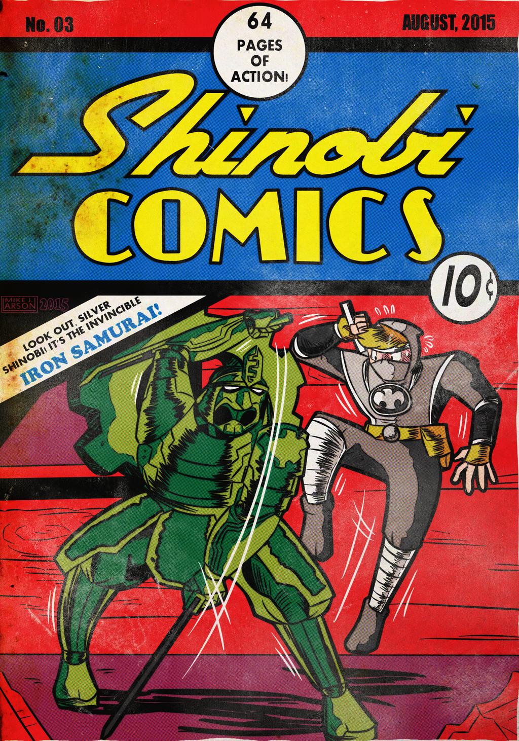 SilverKazeNinja Commission: Silver Shinobi No. 03 by MichaelJLarson