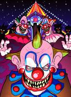 Drawlloween 2016, Oct 2nd - Carnival Creeps by MichaelJLarson