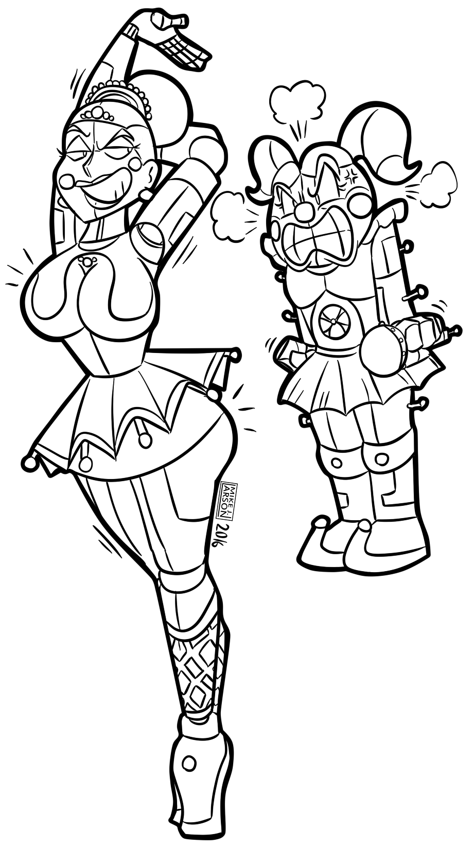 All Animatronics F Naf Coloring Pages Coloring Pages