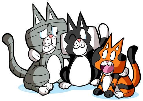 Cobaltkatdrone Commission: Kat-Nap Cats