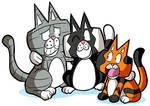 Cobaltkatdrone Commission: Kat-Nap Cats by MichaelJLarson