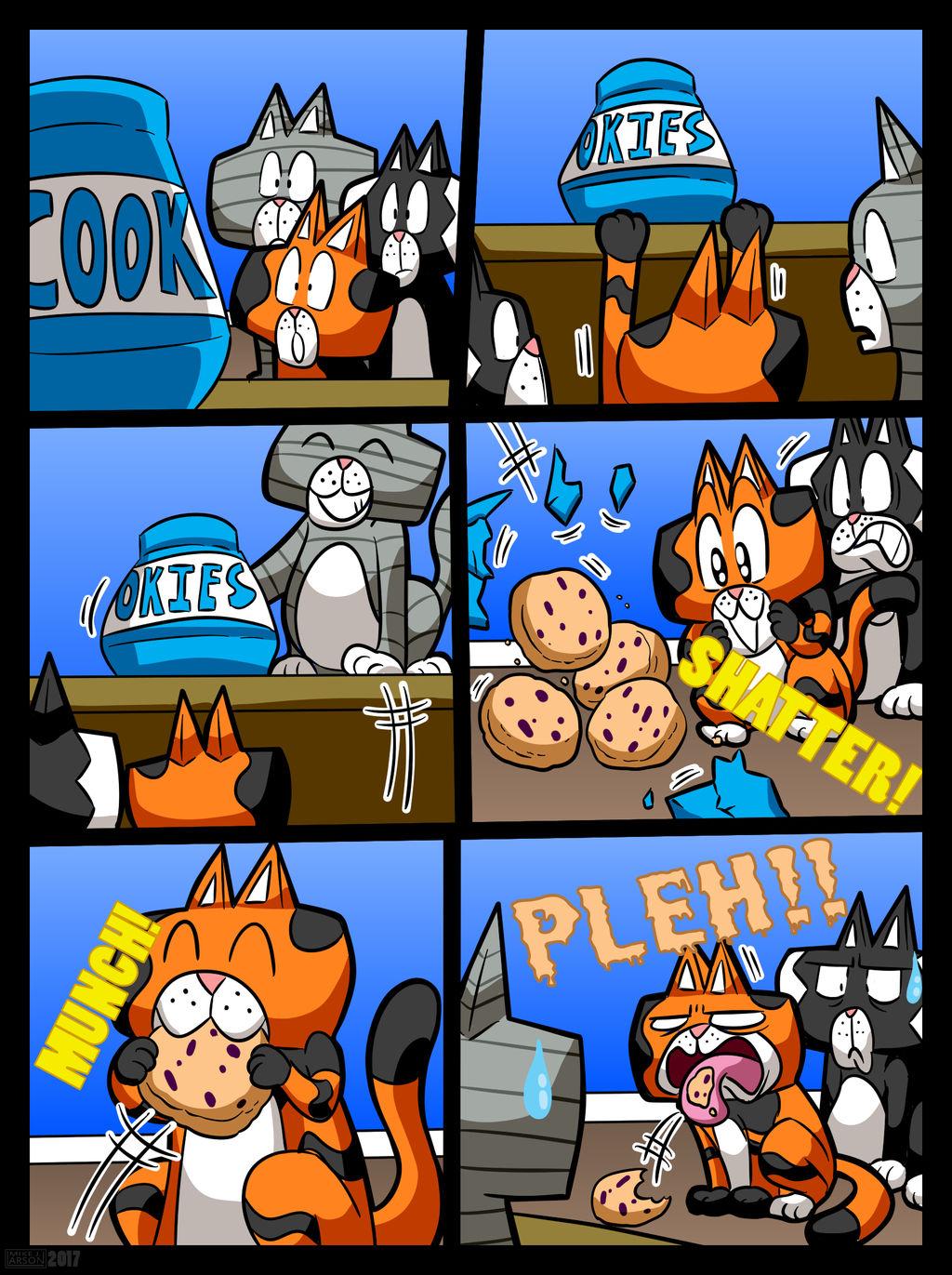 Cobaltkatdrone Commission: Kat-Nap Comic by MichaelJLarson