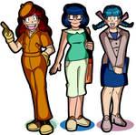 Slipshodsliver Commission - Three Pokemon Ladies by MichaelJLarson