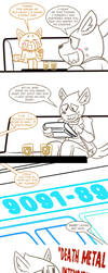 Retsuko x Haida Comic by MichaelJLarson