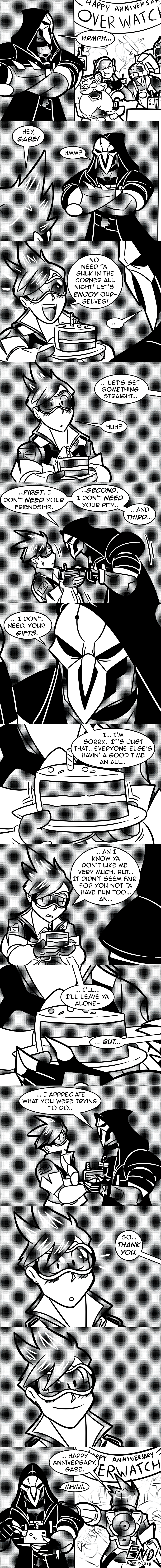 Overwatch Anniversary Comic by MichaelJLarson