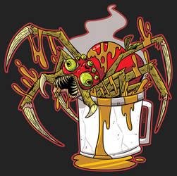 A Mug Of Hot Apple Spider - Drawlloween 2019