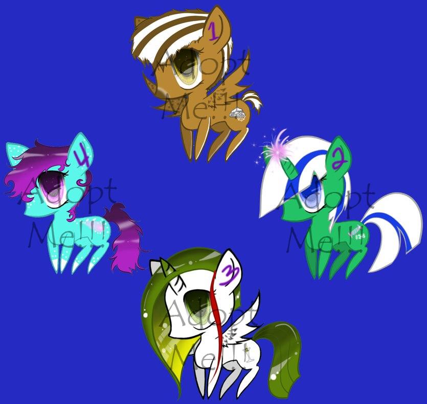 Pony Adoptables - Lowered Price!!! by KeyoshiStorm