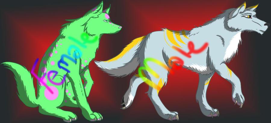 Wolf Adoptables - Batch 1 by KeyoshiStorm