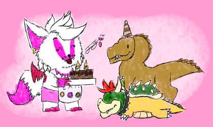Happy Birthday Mr.Raptor and Bowser!