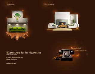 Furniture Illustrations by sklp