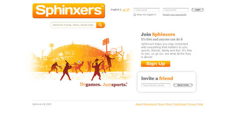 Sphinxers Sign Up Page