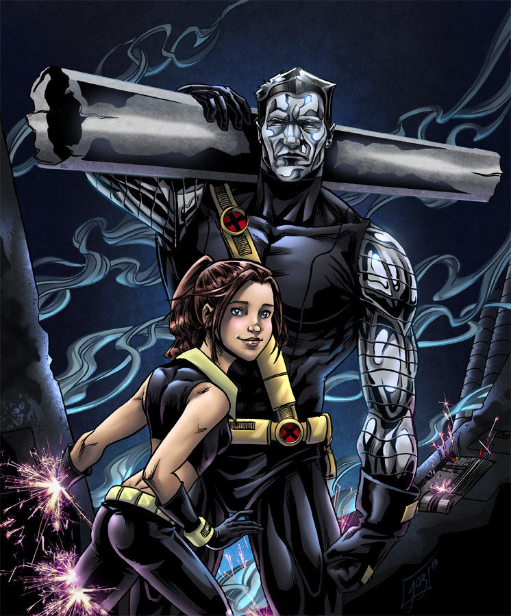 Colossus and Shadowcat by djinn-world