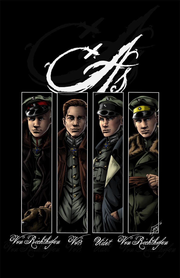 As-Von Richthofen, Voss, Udet by djinn-world