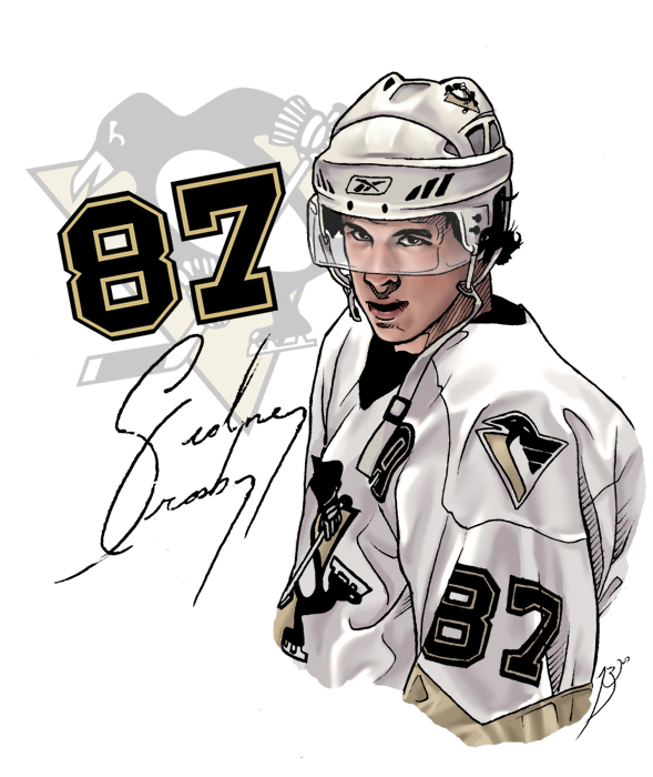 Crosby Pittsburgh Penguins Coloring Pages Pictures To Pin