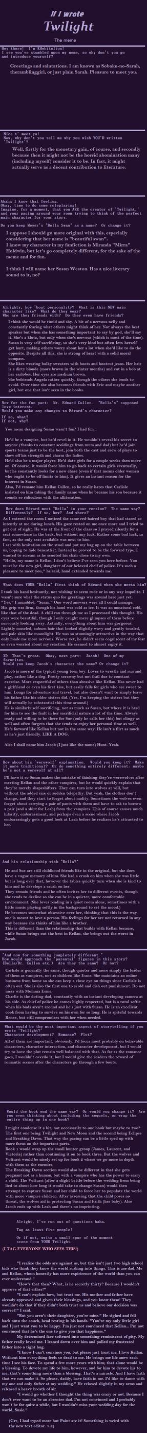 Twilight rewrite by Sobaku-no-Sarah