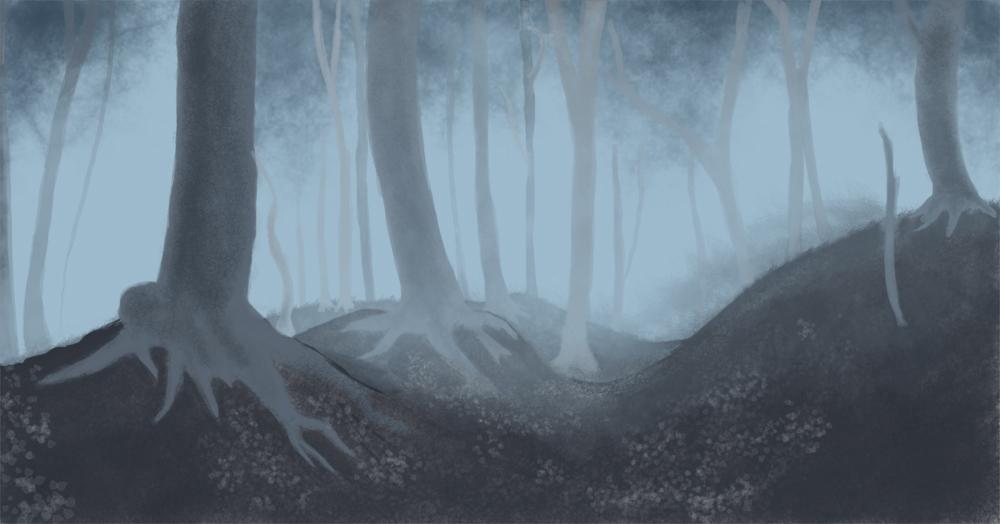 Foggy Forest Background By Inter D On Deviantart