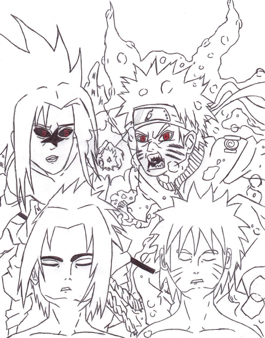 my naruto drawings by randazzle100 on deviantart