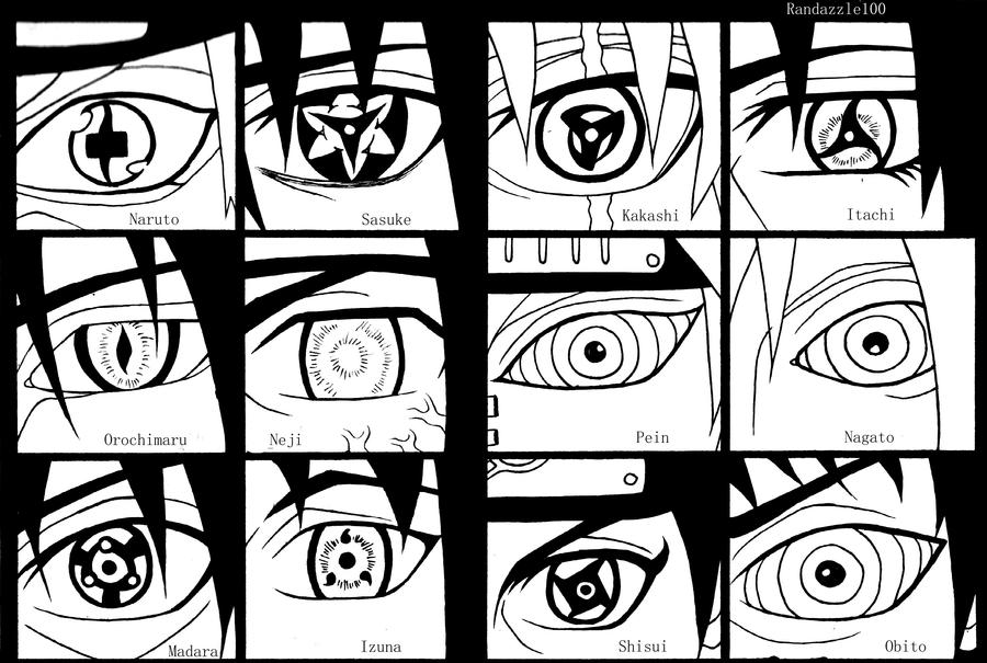 Naruto Shippuden Eyes By Randazzle100