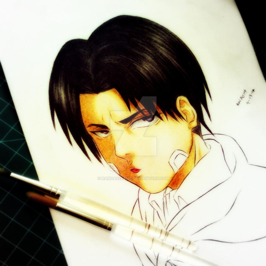 Levi- Attack On Titan- W.I.P Traditional Color by Randazzle100