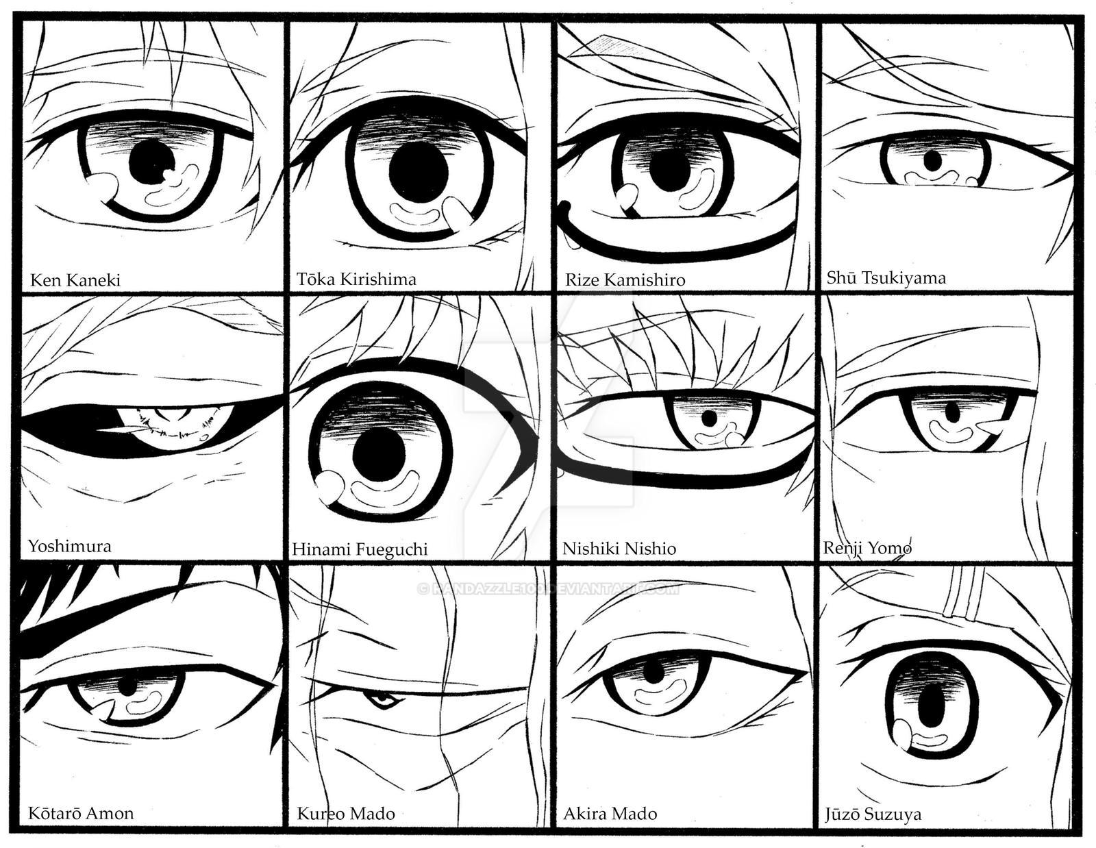 Tokyo Ghoul Eye Drawings Sketch Coloring Page