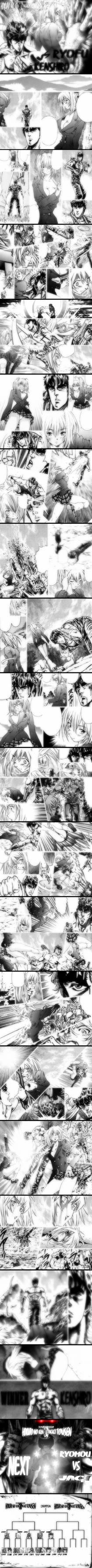 Hokuto no Ken vs IkkiTousen Kenshiro vs Ryofu