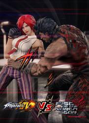Kenshiro (Hokuto no Ken) vs Vanessa ((KOF) by Ken982
