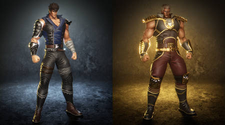 The J-Victory models with Kenshiro and Raoh WIP by Ken982
