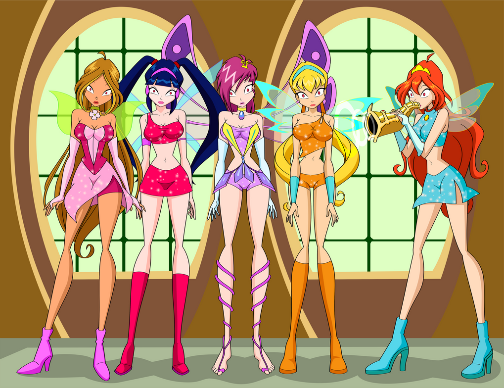 The Winx and a horn. by Hypno-Roxa on DeviantArt