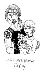 The Human DaFoxy Family WIP by turkituck