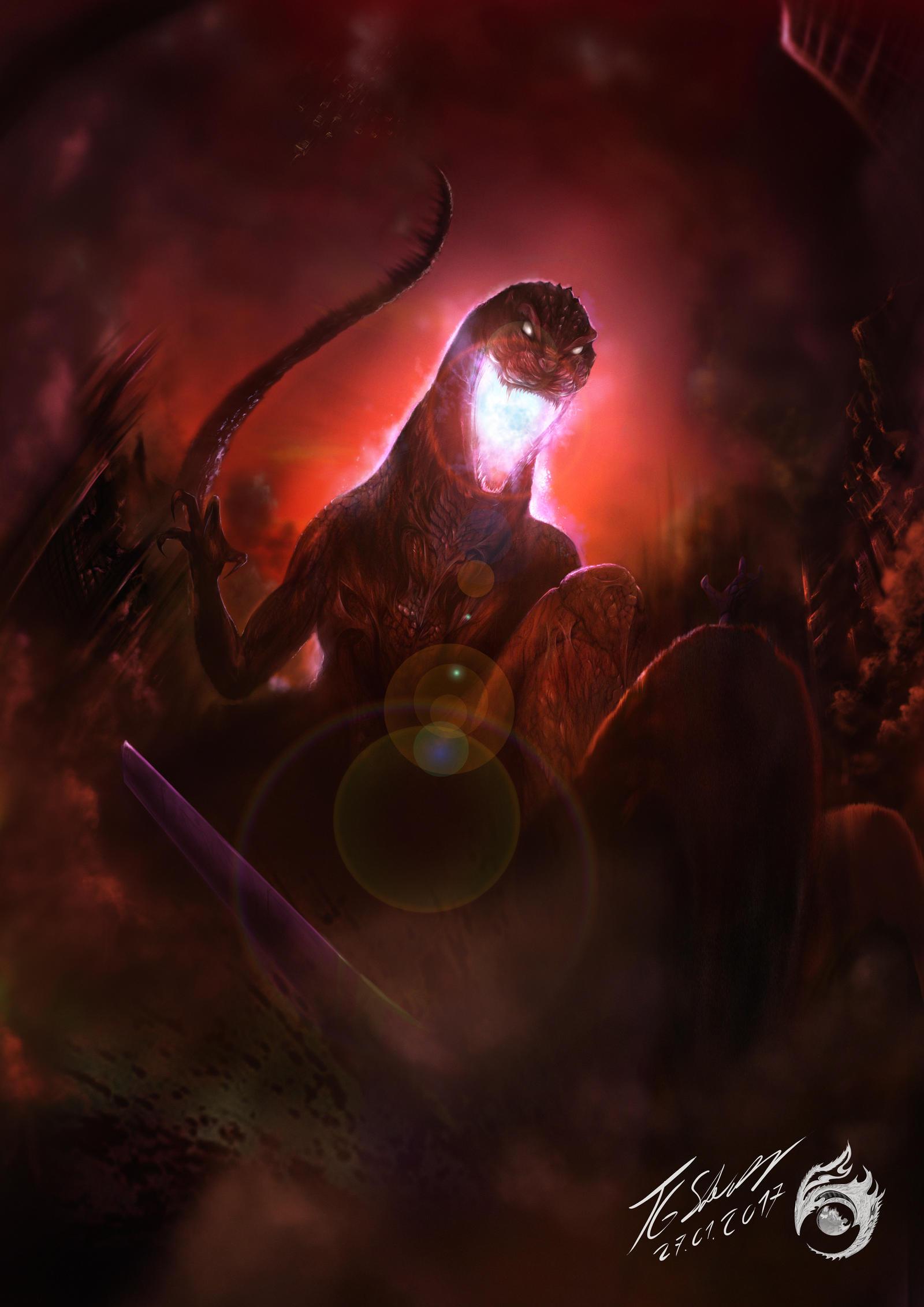 Godzilla - decline before the Black Angel by TGoperator