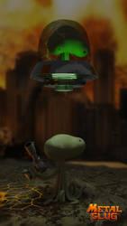 Vertical scene Mars People from metal slug