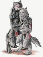 Wolf Couple by Lyanti
