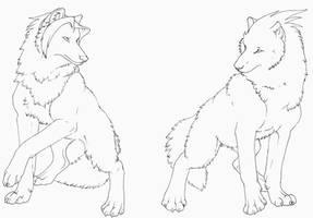 Phoenix Wright Wolves by Lyanti