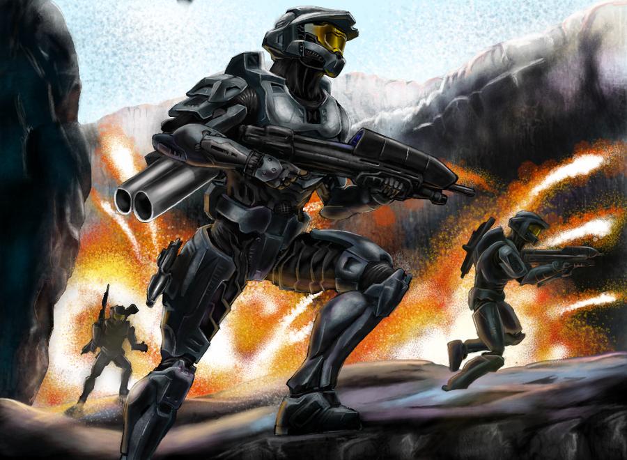 Halo Assault by artjordanrhodes