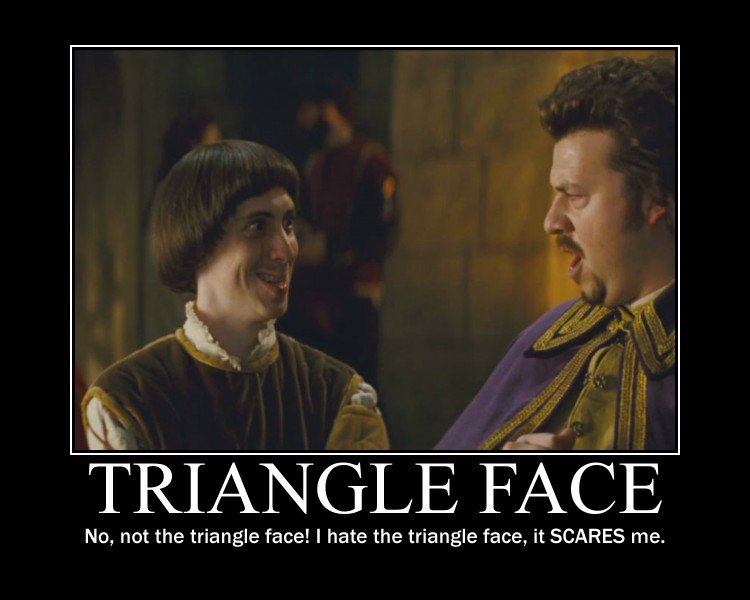 Triangle Face Demotivational Your Highness Meme