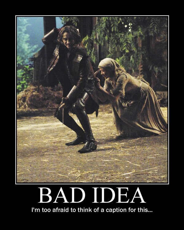 bad idea demotivational by ladracul on deviantart. Black Bedroom Furniture Sets. Home Design Ideas