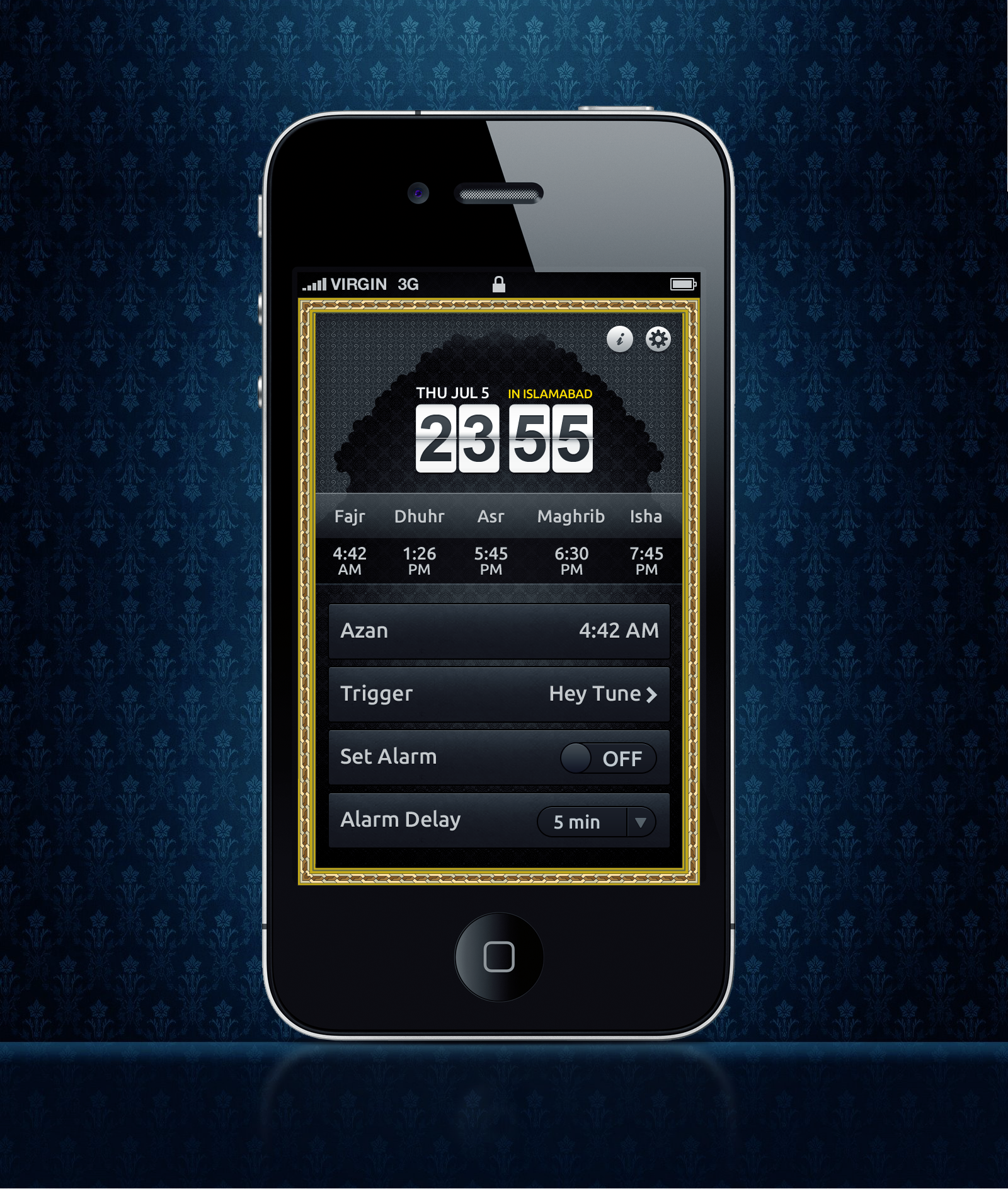 Alarm app home screen design 4 iphone by awaisfarooq on for Designing an iphone app