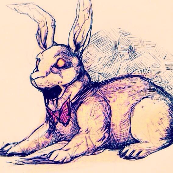Black bunny by PaleBlank