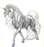 Floofy Horse by astra-valyesky