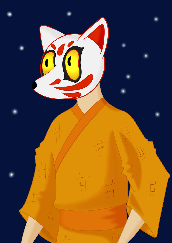 Kitsune Head by PlayTheFox