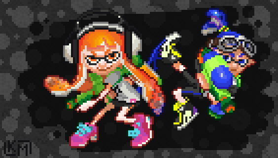 Pixel Splatoon By Rolltonotdie On Deviantart