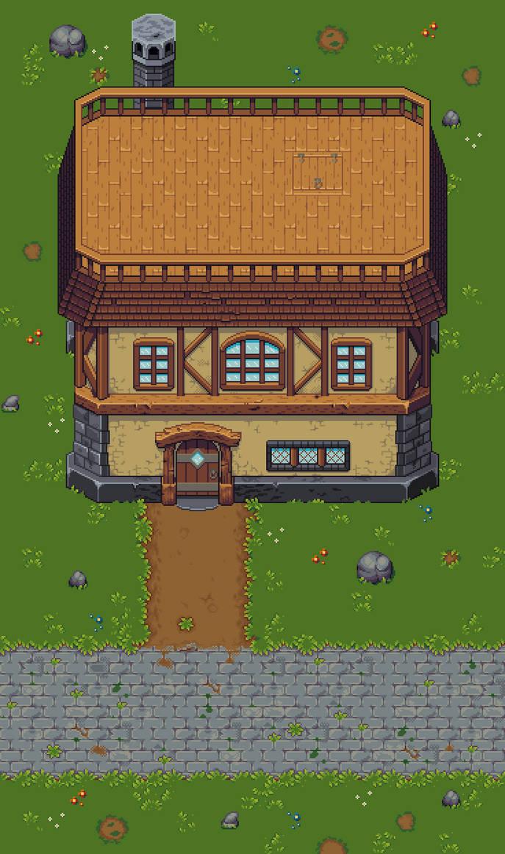 Village Cottage Tileset by RollToNotDie