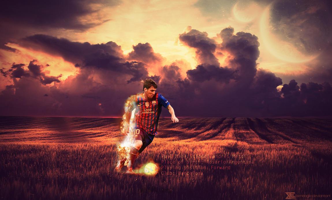 Lionel Messi by beneagle