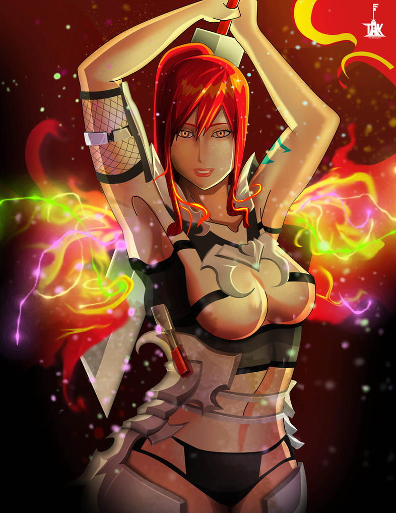 Erza Scarlet - Blazing Hot Armor by ShadowBT