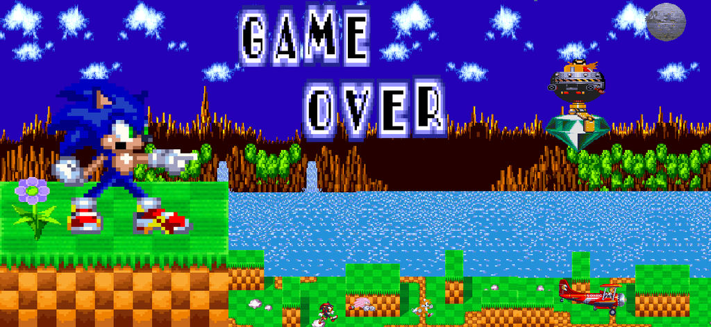 sonic the hedgehog game over screen