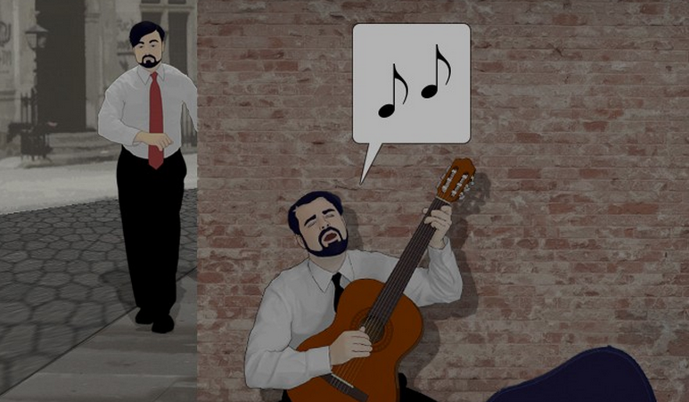 The One About Busking by The-DaneMen