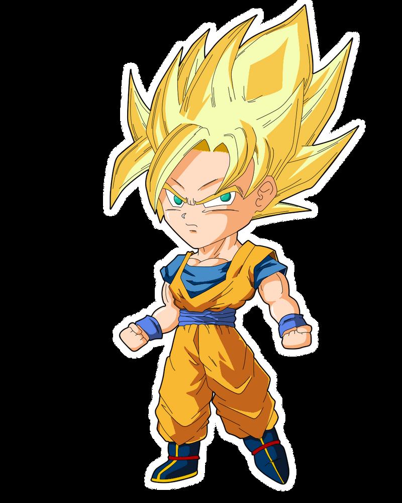 Dibujo de Goku Ssj (chibi)