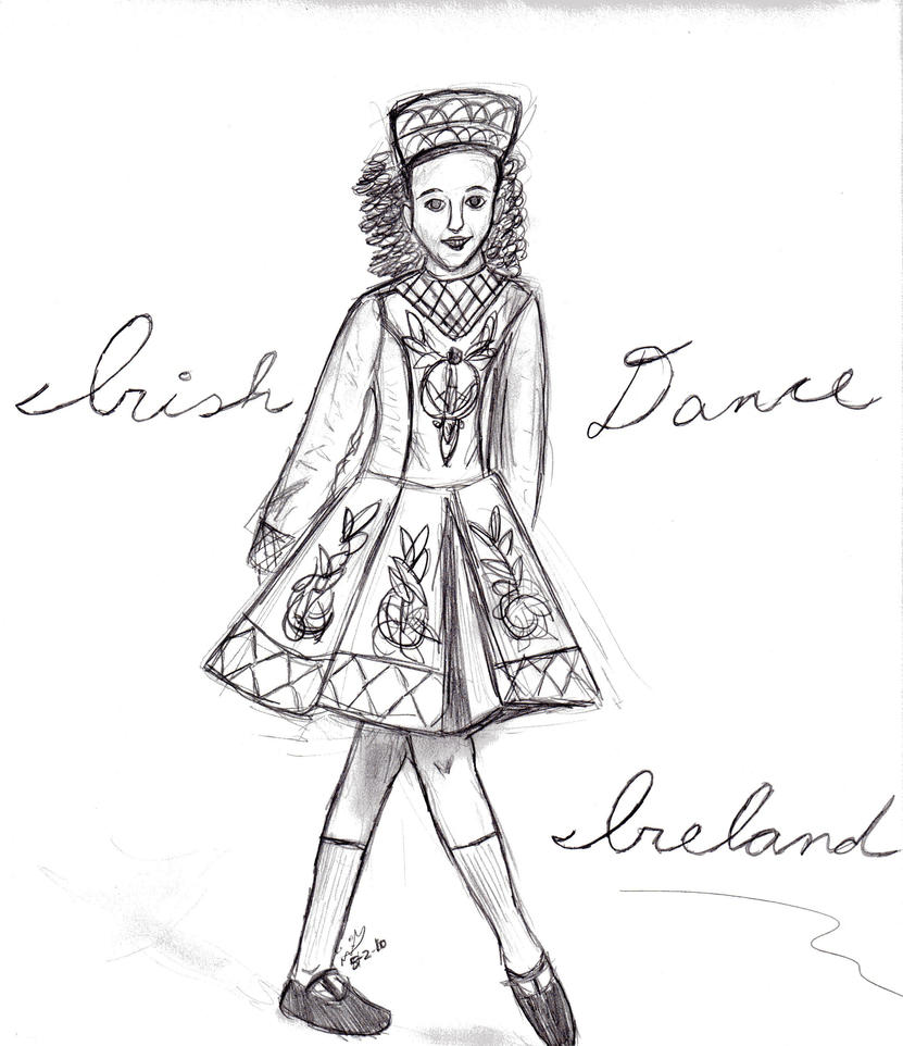 irish dance coloring pages free - photo#22