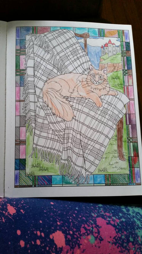 Coloring A Fabulous Cat!!!  by Carolalexandra