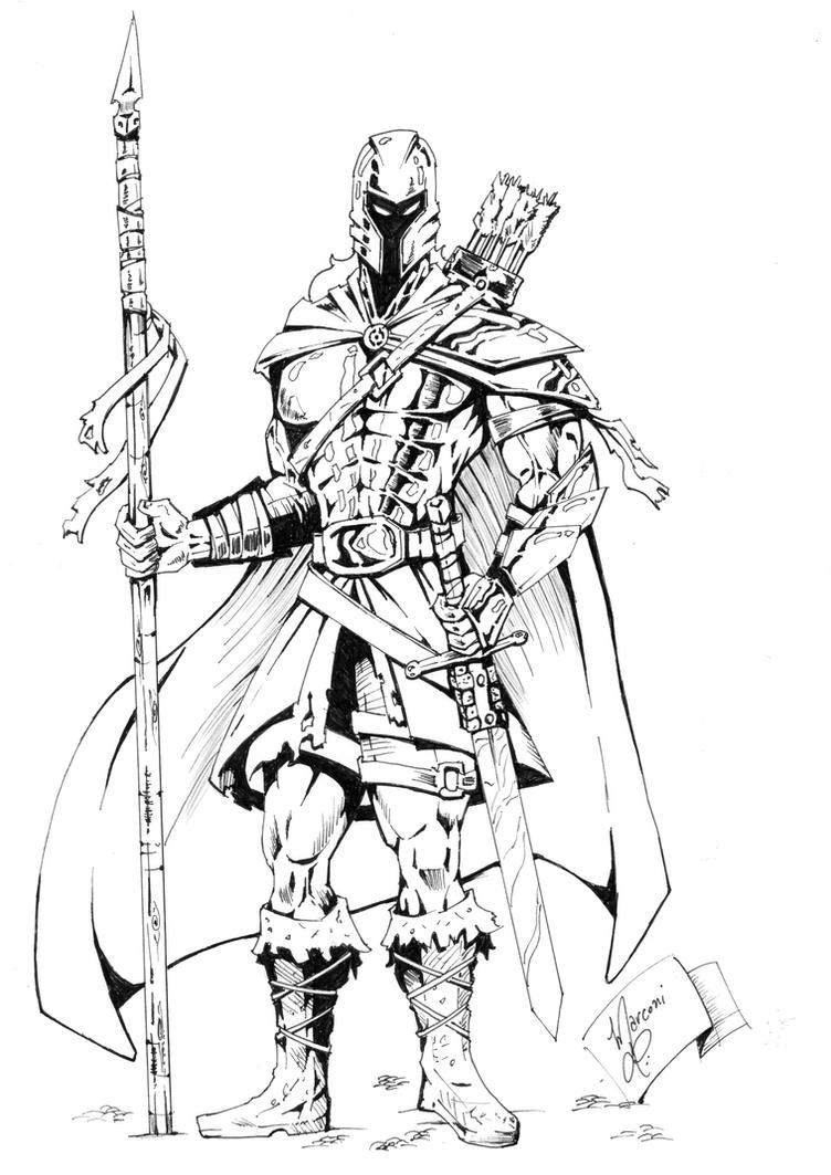 soldado medieval by marconi desenhos on deviantart